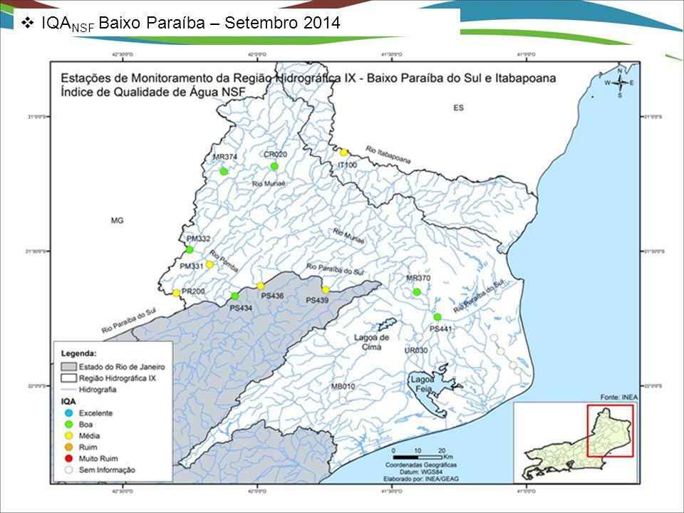  IQA NSF Baixo Paraíba – Setembro 2014
