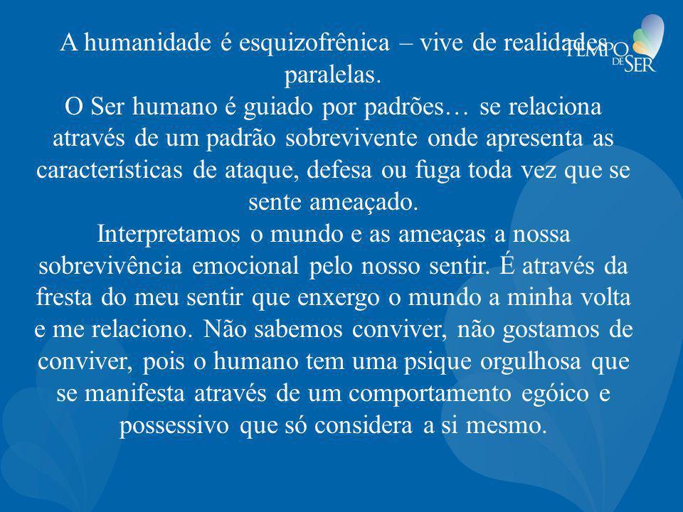 A humanidade é esquizofrênica – vive de realidades paralelas.