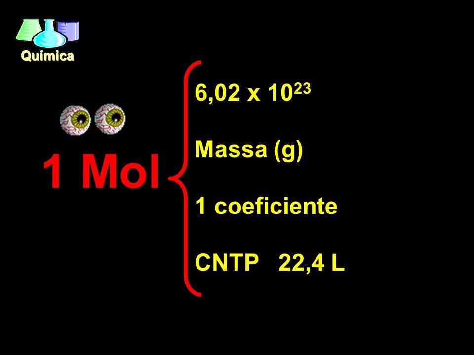 Química Estequiometria É o estudo das relações quantitativas (átomos, moléculas, massa, volume) entre as substâncias que participam de uma reação quím