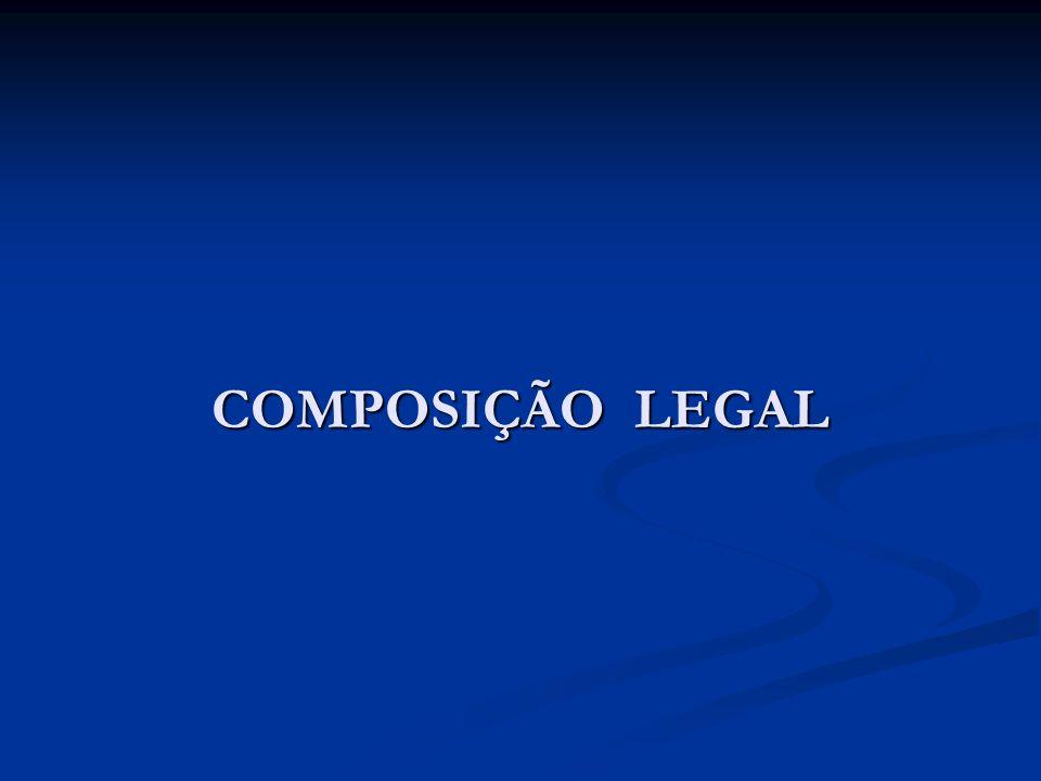 COMPOSIÇÃO LEGAL