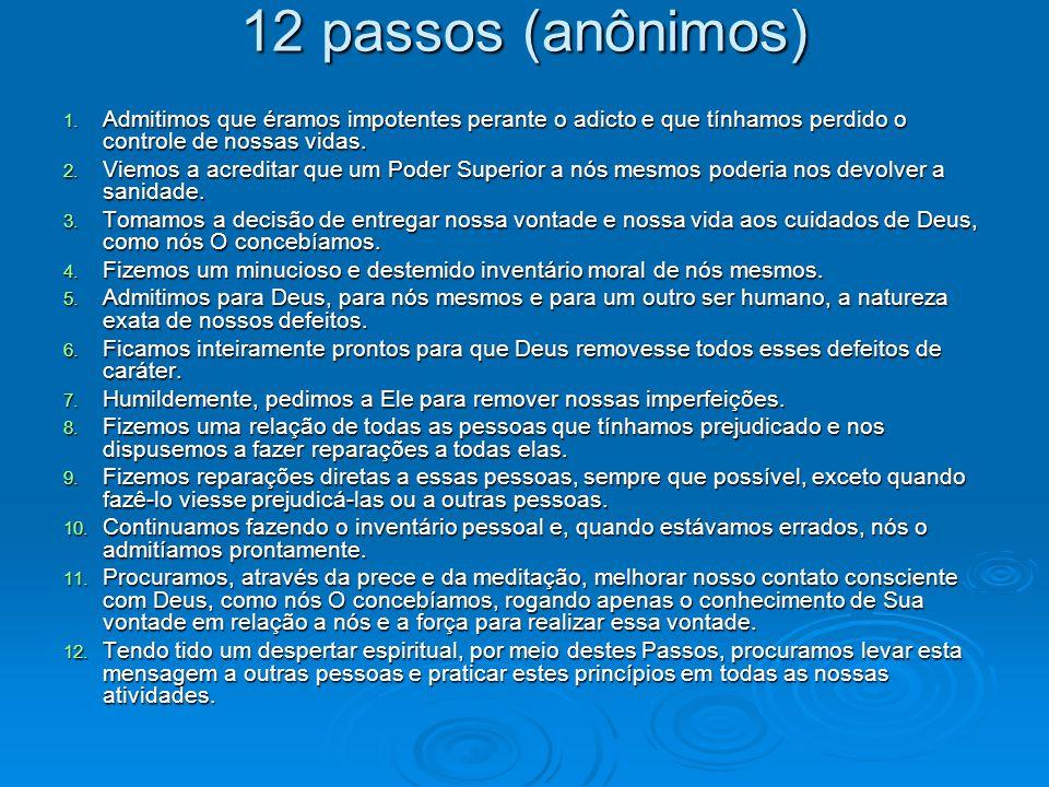 12 passos (anônimos) 1.