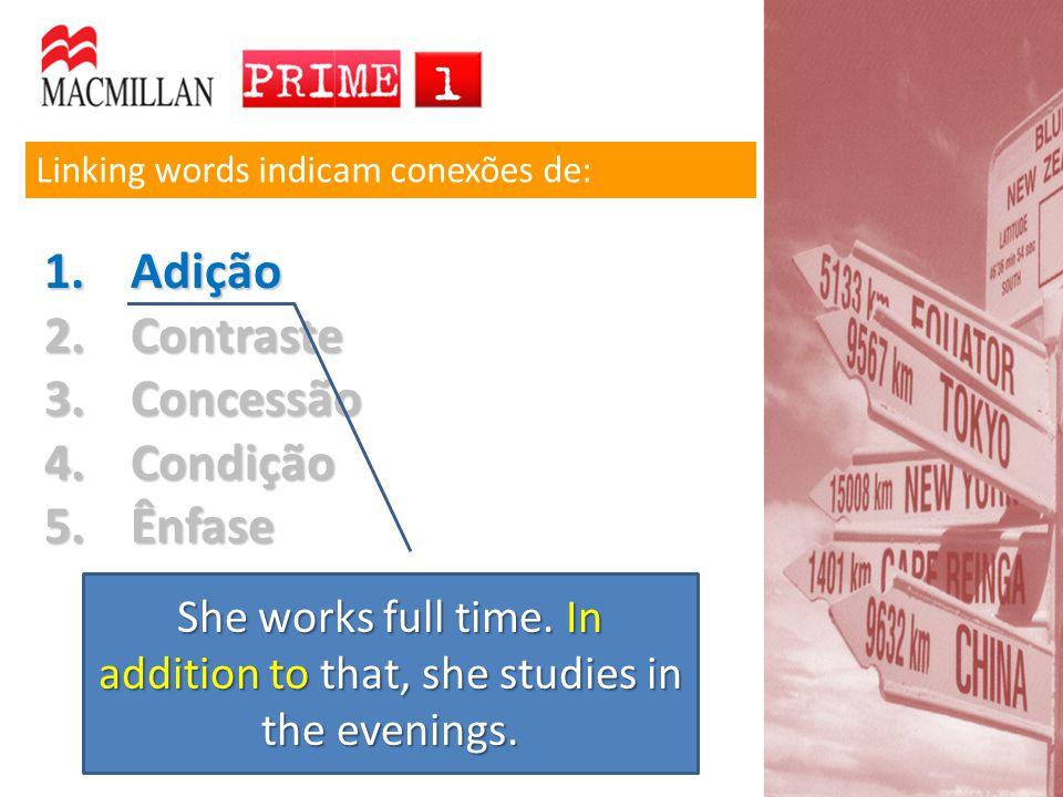 Ser a forma reduzida de uma oração adverbial Palavras terminadas em –ing podem ter várias funções: