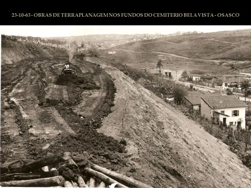 30-09-63 RUA CALDAS TELO - ATUAL R. PEDRO FIORETTI - GALERIAS SUBTERRANEAS