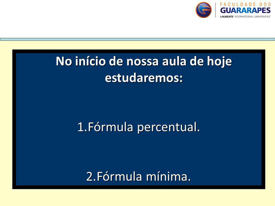 QUÍMICA, 2º Ano do Ensino Médio Cálculos estequiométricos: fórmula percentual e fórmula mínima. No início de nossa aula de hoje estudaremos: 1.Fórmula