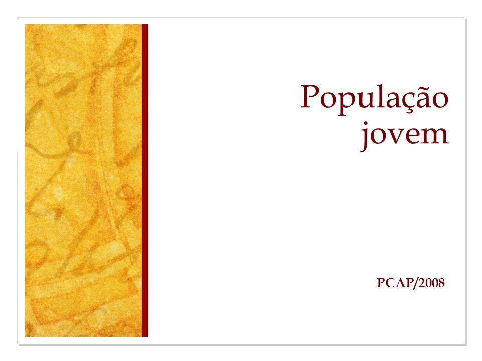 População jovem PCAP/2008