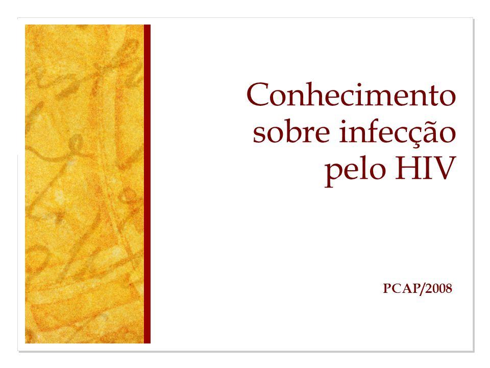 Conhecimento sobre infecção pelo HIV PCAP/2008