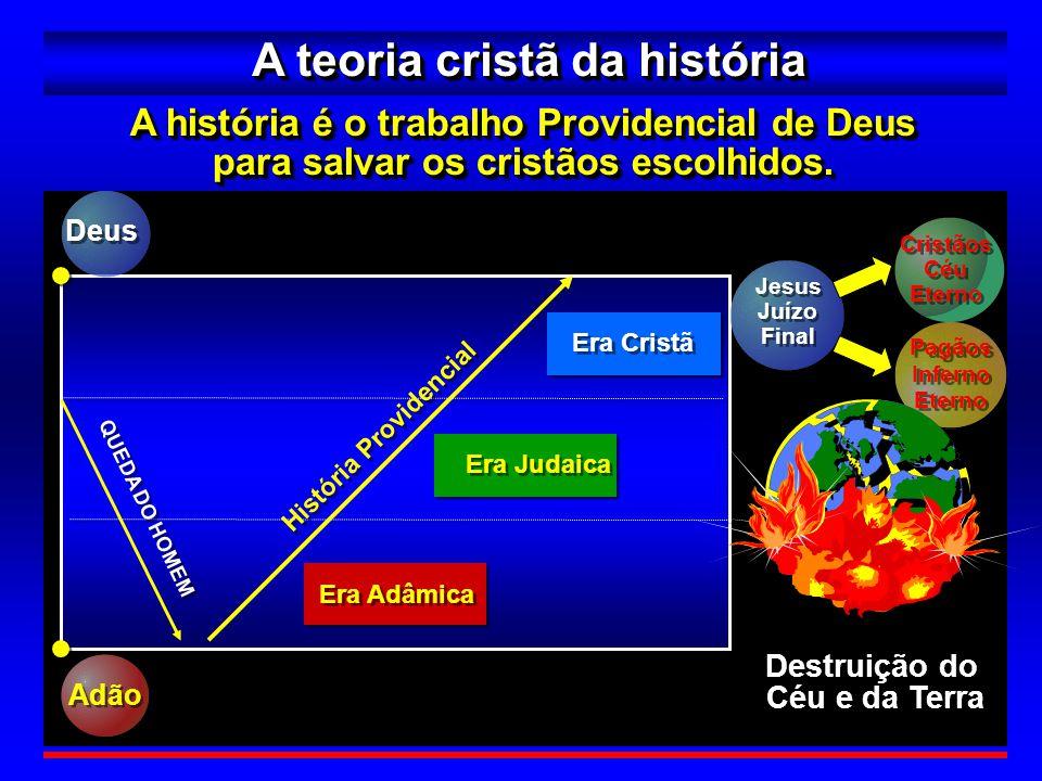 7 A teoria Deusista da história A história é o trabalho Providencial de Deus para restaurar o homem e construir o Reino dos Céus.