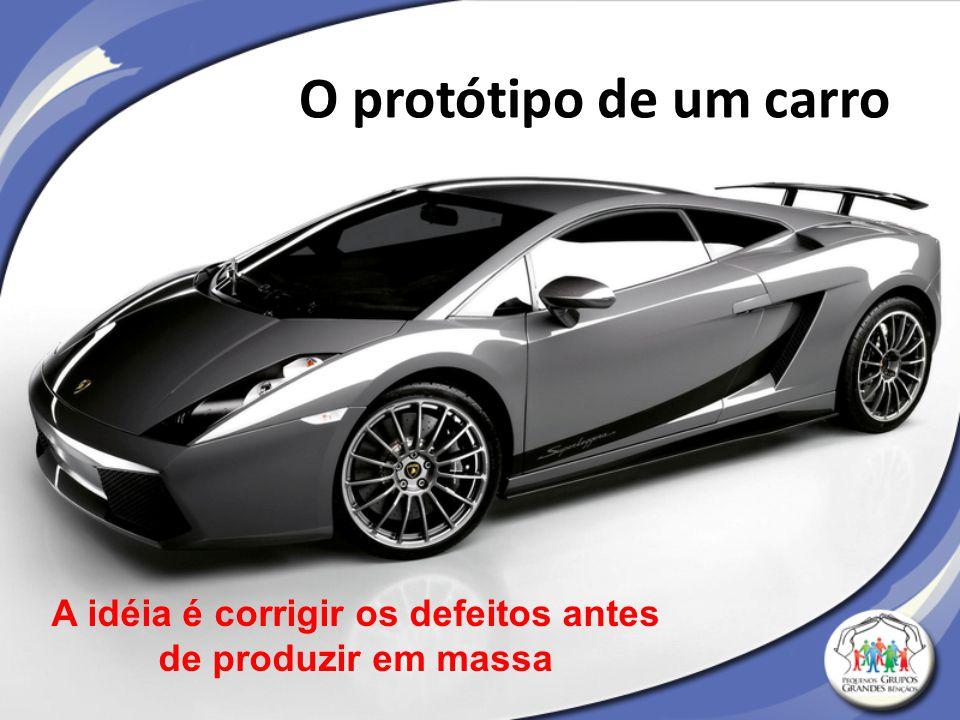 O protótipo de um carro A idéia é corrigir os defeitos antes de produzir em massa