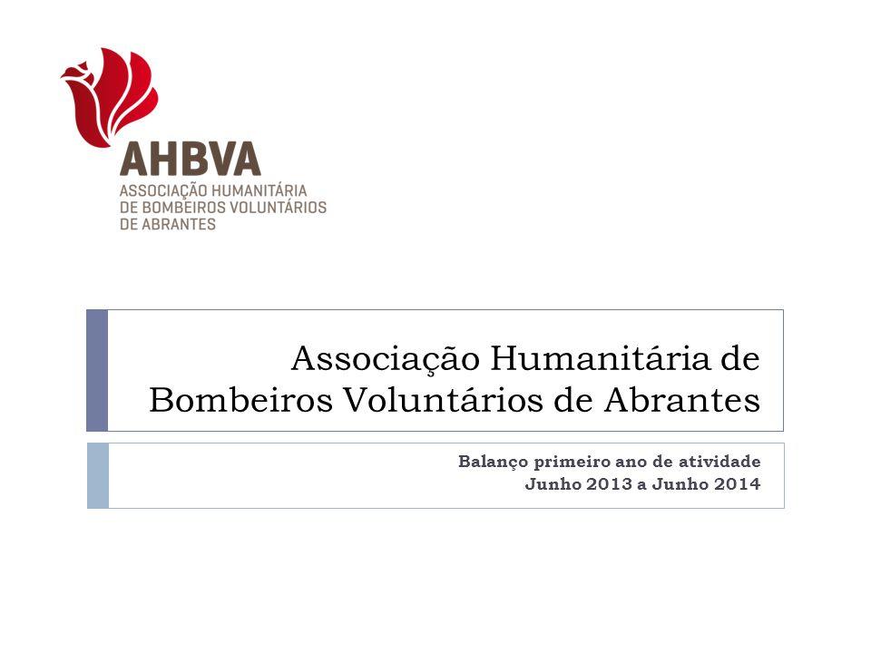 Associação Humanitária de Bombeiros Voluntários de Abrantes Balanço primeiro ano de atividade Junho 2013 a Junho 2014