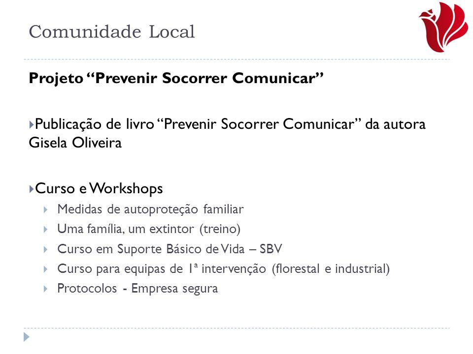 """Comunidade Local Projeto """"Prevenir Socorrer Comunicar""""  Publicação de livro """"Prevenir Socorrer Comunicar"""" da autora Gisela Oliveira  Curso e Worksho"""