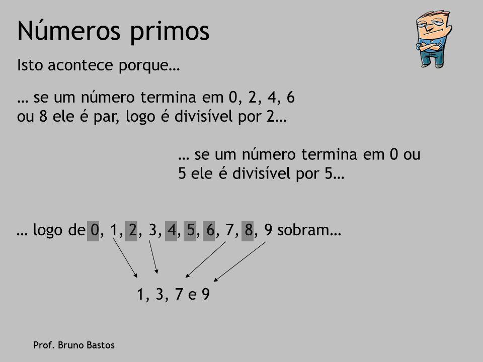 Números primos Vamos então relembrar a definição de número primo… … número composto, o número que tem mais de dois divisores.