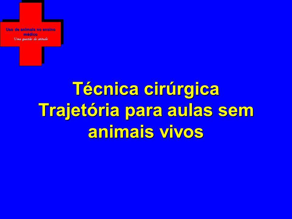 Técnica cirúrgica Trajetória para aulas sem animais vivos Uso de animais no ensino médico Uma questão de atitude