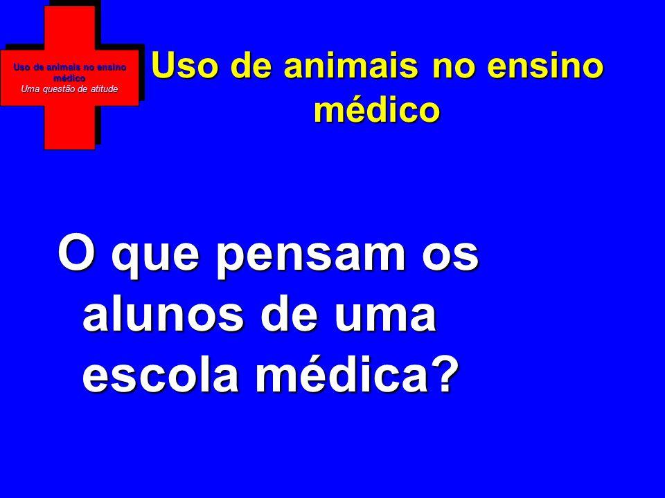 Uso de animais no ensino médico Uma questão de atitude Uso de animais no ensino médico O que pensam os alunos de uma escola médica
