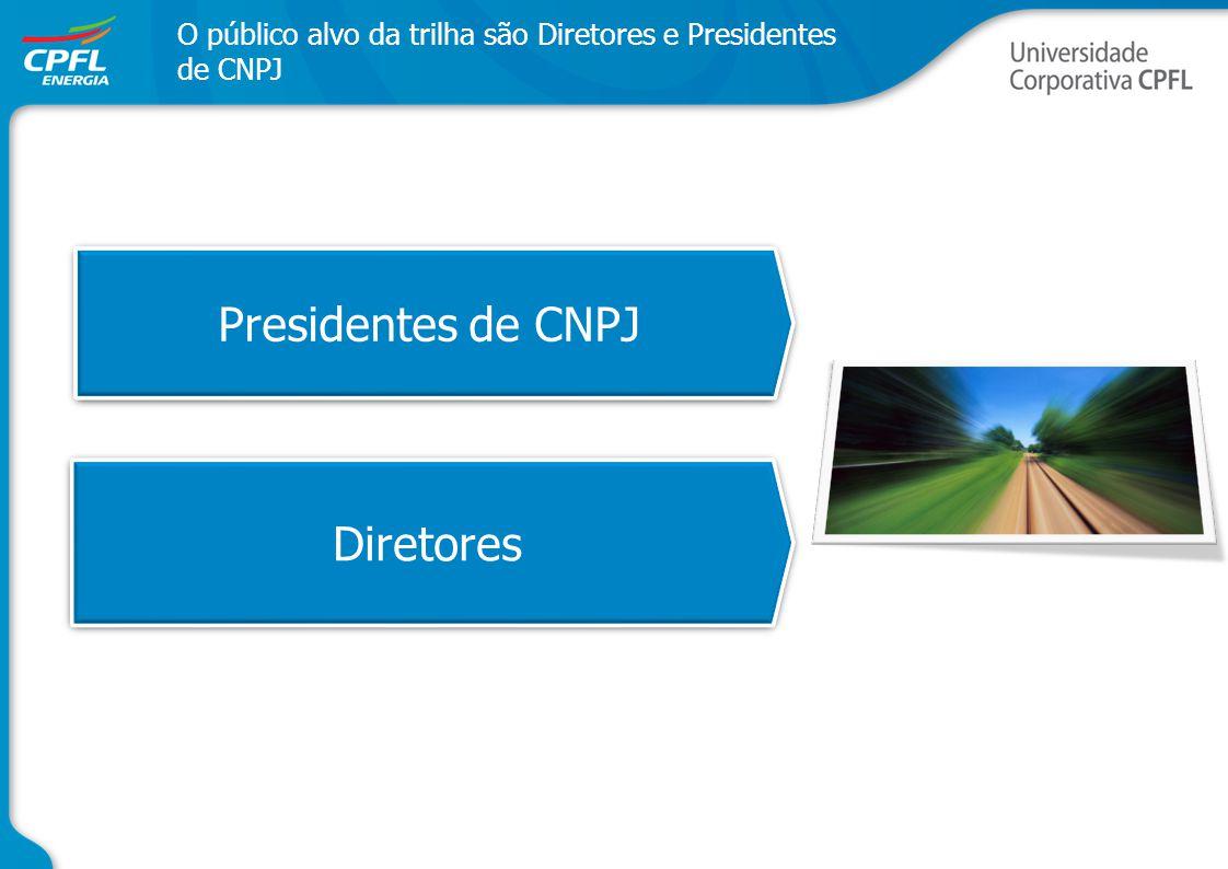 Presidentes de CNPJ Diretores O público alvo da trilha são Diretores e Presidentes de CNPJ