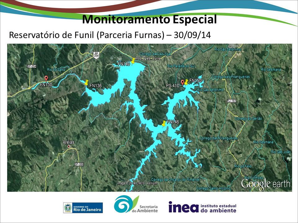 Reservatório de Funil (Parceria Furnas) – 30/09/14 Monitoramento Especial