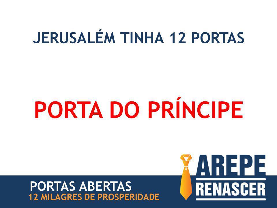 JERUSALÉM TINHA 12 PORTAS PORTA DO PRÍNCIPE 12 MILAGRES DE PROSPERIDADE PORTAS ABERTAS