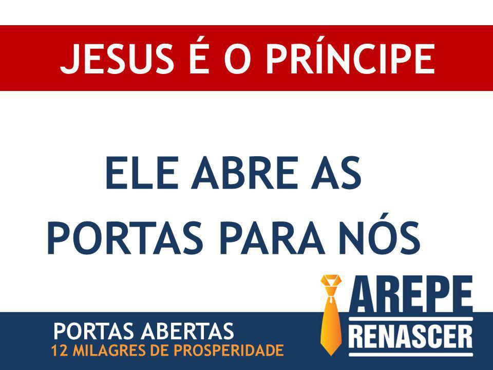 JESUS É O PRÍNCIPE ELE ABRE AS PORTAS PARA NÓS 12 MILAGRES DE PROSPERIDADE PORTAS ABERTAS