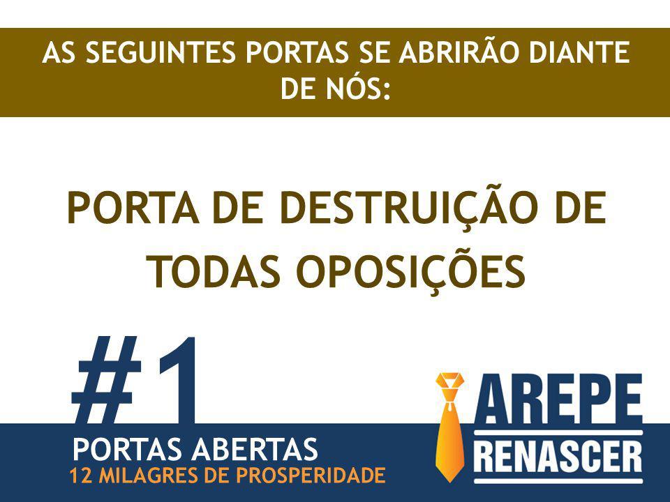 AS SEGUINTES PORTAS SE ABRIRÃO DIANTE DE NÓS: PORTA DE DESTRUIÇÃO DE TODAS OPOSIÇÕES #1 12 MILAGRES DE PROSPERIDADE PORTAS ABERTAS