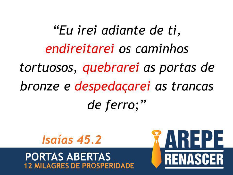 """""""Eu irei adiante de ti, endireitarei os caminhos tortuosos, quebrarei as portas de bronze e despedaçarei as trancas de ferro;"""" Isaías 45.2 PORTAS ABER"""