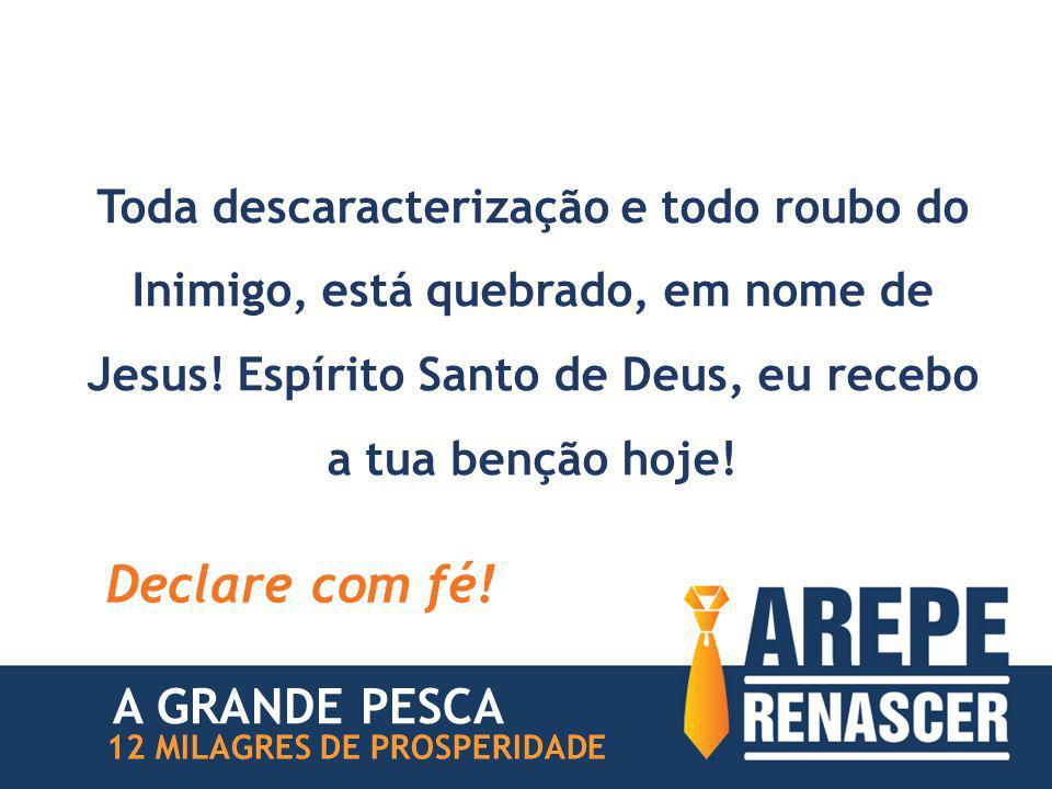Toda descaracterização e todo roubo do Inimigo, está quebrado, em nome de Jesus.