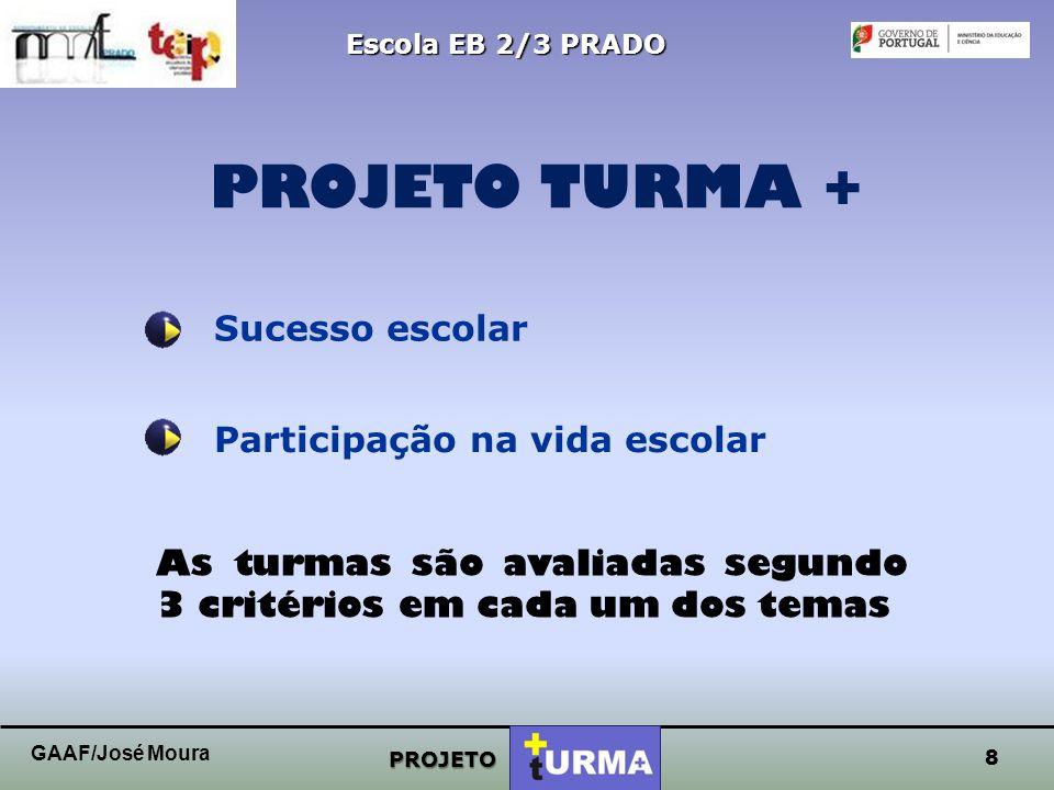 """7 Escola EB 2/3 PRADO GAAF/José Moura A Escola Básica de Prado vai, a partir deste 2º período letivo, implementar o concurso """"A turma + do ano"""" dirigi"""