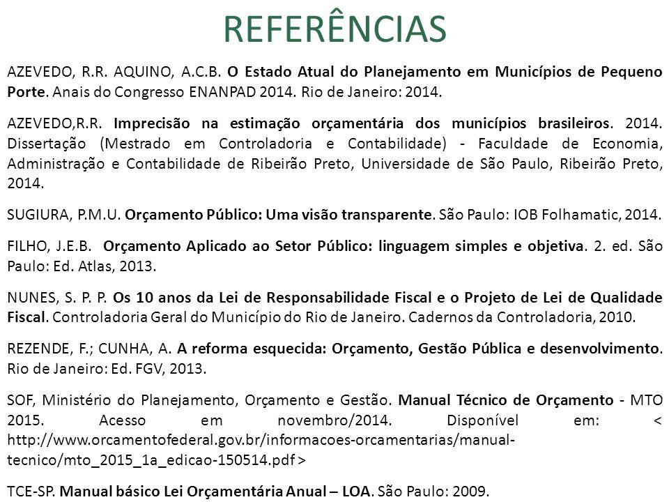 34 REFERÊNCIAS AZEVEDO, R.R. AQUINO, A.C.B.