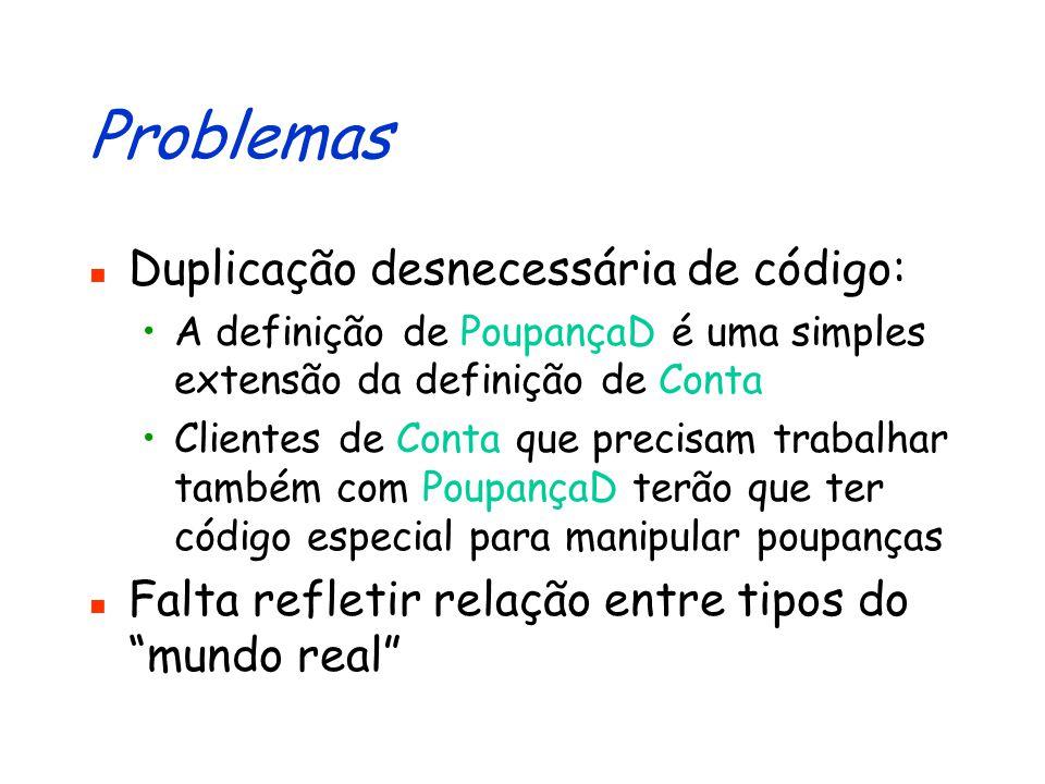 public void debitarConta(String numero, double valor) { Conta c; c = this.procurarConta(numero); if (c != null) c.debitar(valor); else System.out.println( Conta inexistente! ); }
