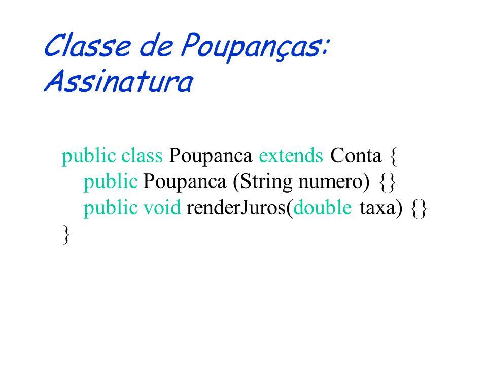 Herança Reuso de Código a descrição da superclasse pode ser usada para definir a subclasse Extensibilidade algumas operações da superclasse podem ser redefinidas na subclasse