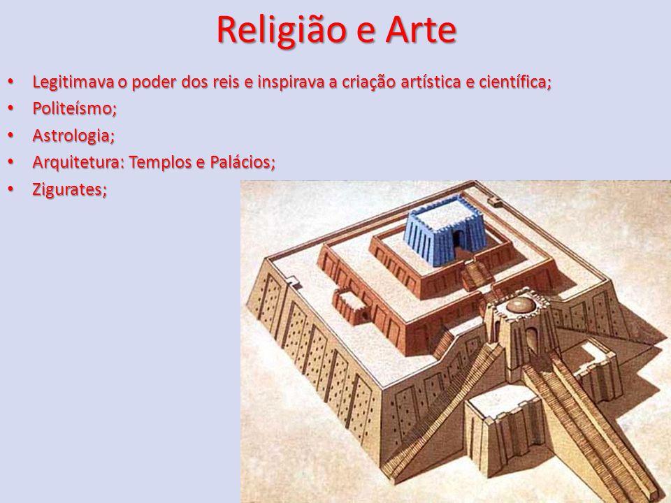 Religião e Arte Legitimava o poder dos reis e inspirava a criação artística e científica; Legitimava o poder dos reis e inspirava a criação artística