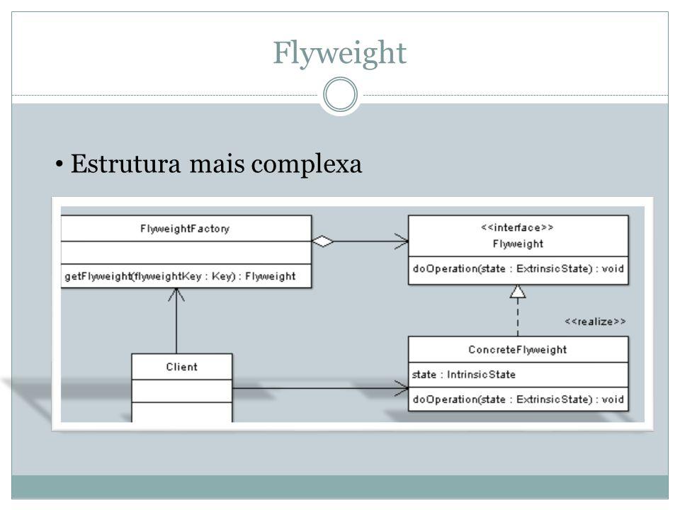Flyweight Estrutura mais complexa