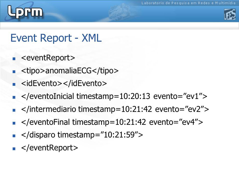 Event Report - XML anomaliaECG