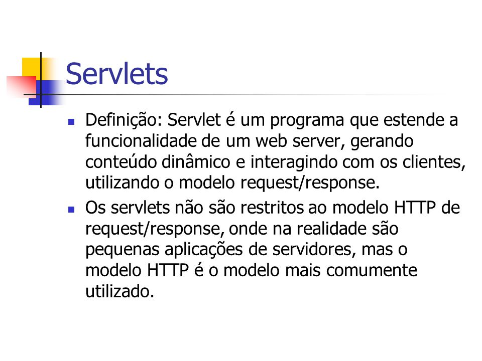 JSP – Manipulação de Erros Exemplo de página manipuladora de erro (errorPage.jsp): Error Page Received the exception:
