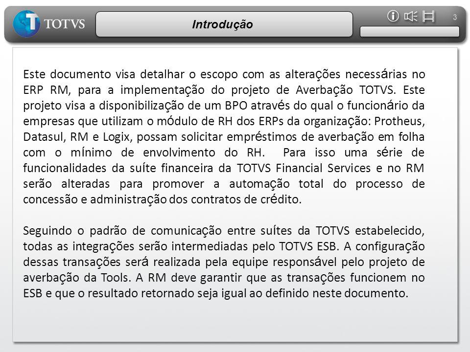 4 Consulta dados de Funcionários WebService, ou serviço acessível via TOTVS ESB, responsável por listar o(s) funcionário(s) ativo(s) de uma determinada empresa.