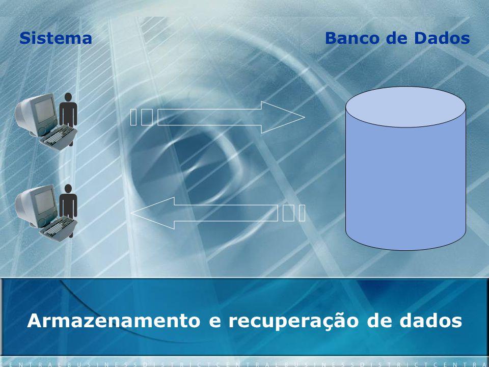 Armazenamento e recuperação de dados   SistemaBanco de Dados