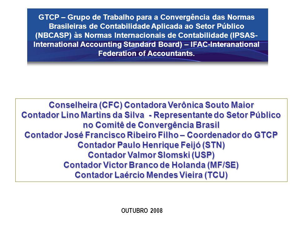 GTCP – Grupo de Trabalho para a Convergência das Normas Brasileiras de Contabilidade Aplicada ao Setor Público (NBCASP) às Normas Internacionais de Co