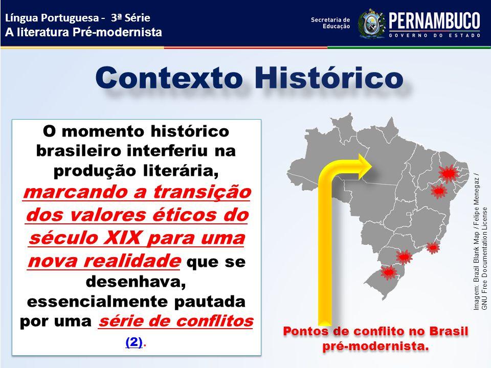 Contexto Histórico O momento histórico brasileiro interferiu na produção literária, marcando a transição dos valores éticos do século XIX para uma nov