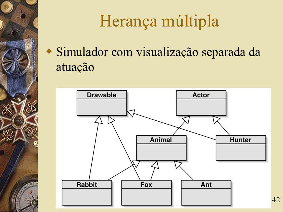 42 Herança múltipla  Simulador com visualização separada da atuação