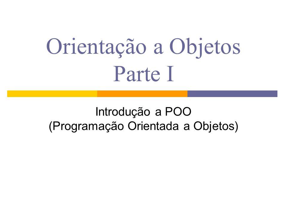 Orientação a Objetos Parte I Introdução a POO (Programação Orientada a Objetos)