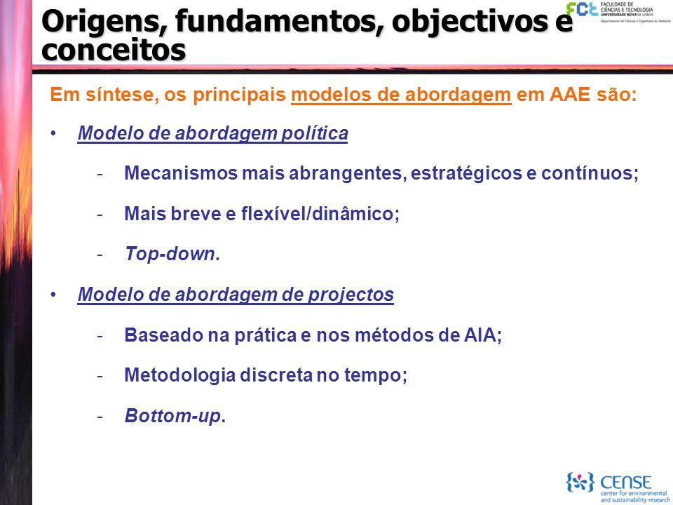 Em síntese, os principais modelos de abordagem em AAE são: Modelo de abordagem política -Mecanismos mais abrangentes, estratégicos e contínuos; -Mais