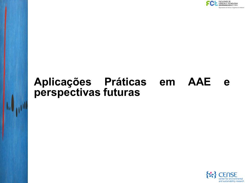 Aplicações Práticas em AAE e perspectivas futuras