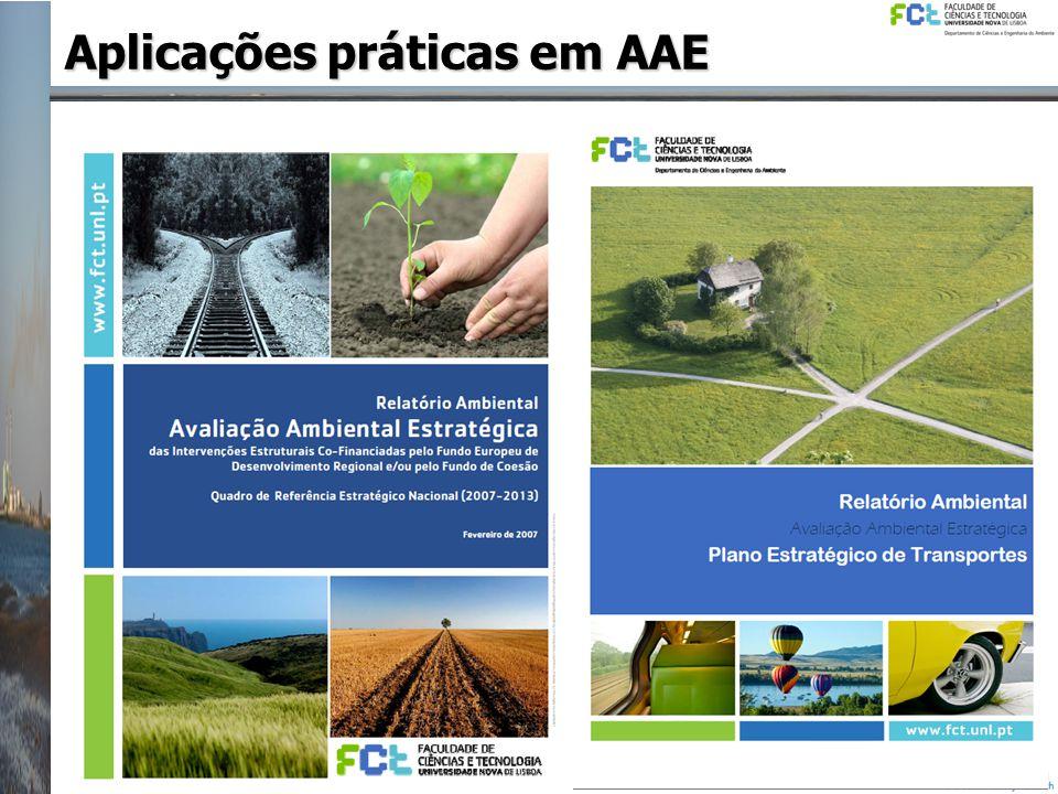 Aplicações práticas em AAE