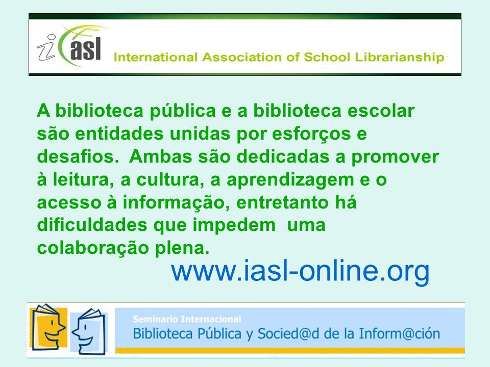 A biblioteca pública e a biblioteca escolar são entidades unidas por esforços e desafios.