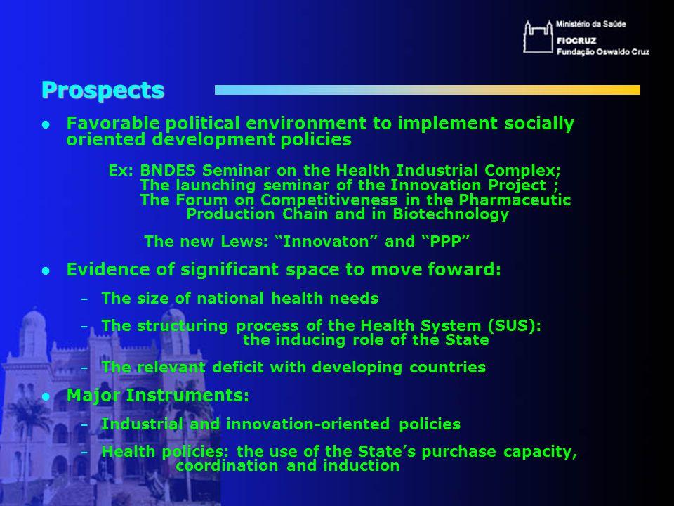 MARCOS ESSENCIAIS NO DESENVOLVIMENTO 2002: Projeto Inovação em Saúde: vacinas, medicamentos e reagentes 2003: Estudo de vacinas: metodologia, a hélice tripla, Inovacina , livro 2004: Fóruns Competitividade (MDIC), Cadeia Farmacêutica, Biotecnologia (GT de Saúde Humana), aceita Inovacina como base 2005: documento que define Política Brasileira de Desenvolvimento Industrial (ABDI, CGEE); atualizar o Inovacina , apreciação por especialistas, Seminário para definir proposta.
