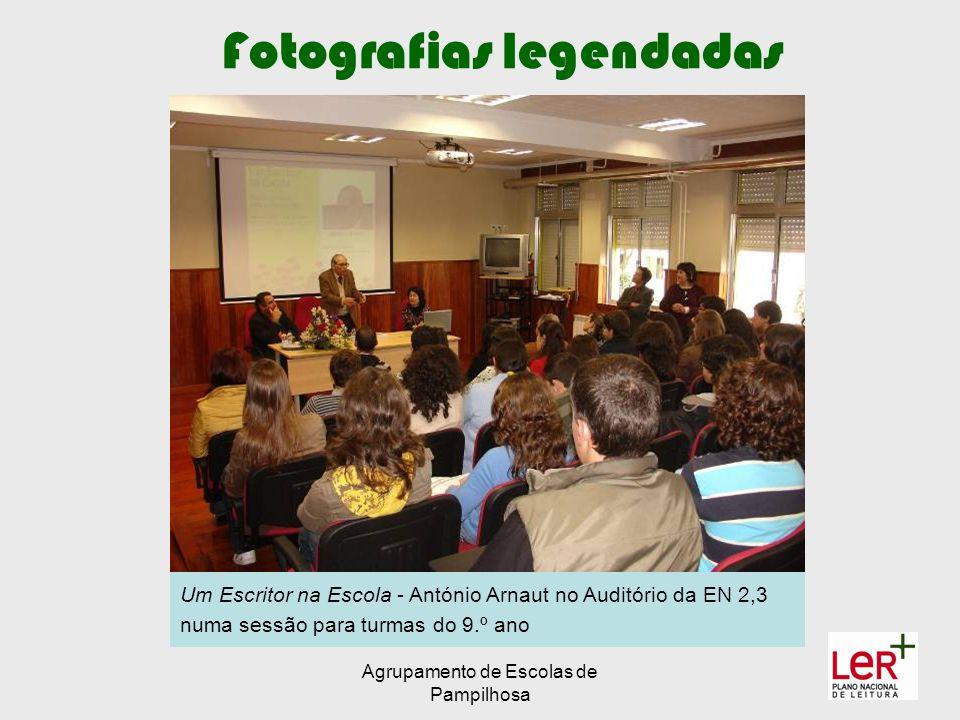 Agrupamento de Escolas de Pampilhosa Fotografias legendadas Um Escritor na Escola - António Arnaut no Auditório da EN 2,3 numa sessão para turmas do 9.º ano