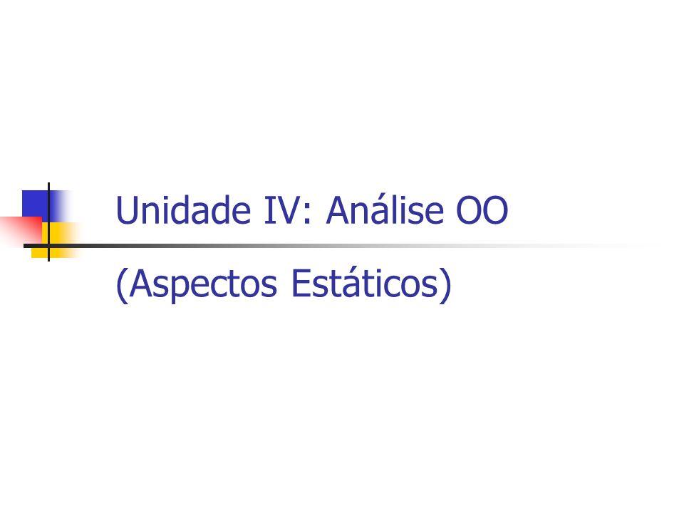 Unidade IV: Análise OO (Aspectos Estáticos)