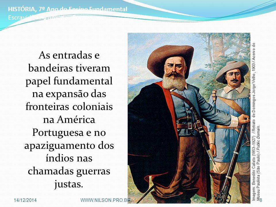 As entradas e bandeiras tiveram papel fundamental na expansão das fronteiras coloniais na América Portuguesa e no apaziguamento dos índios nas chamada