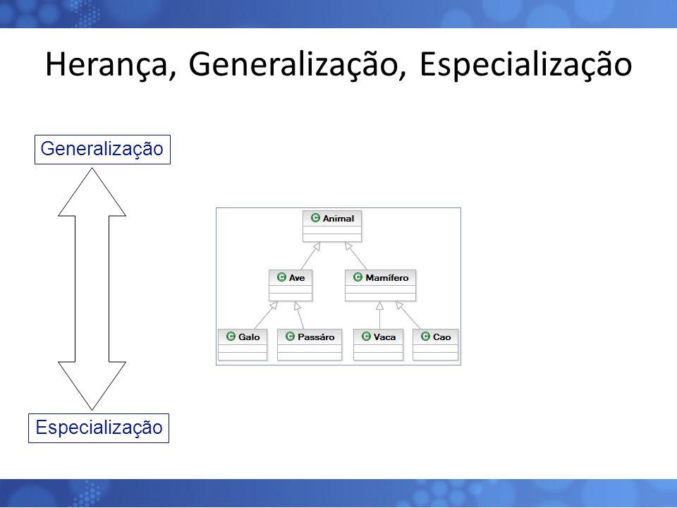 Herança, Generalização, Especialização 12 Generalização Especialização