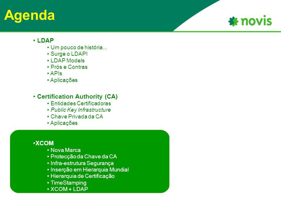 Agenda LDAP Um pouco de história... Surge o LDAP.