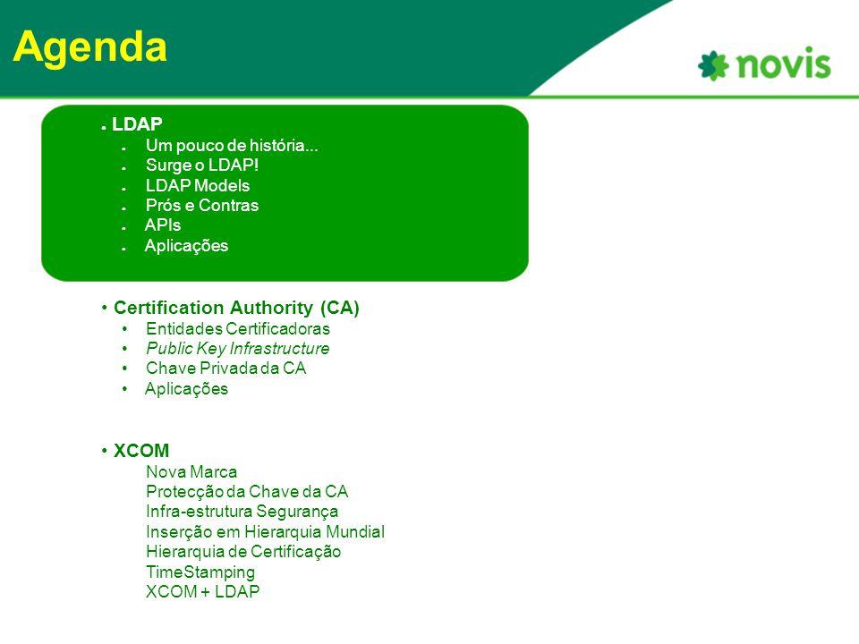 Agenda ● LDAP ● Um pouco de história... ● Surge o LDAP.