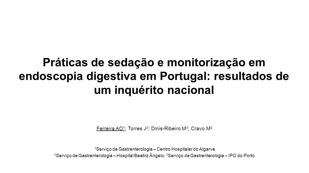 Conflito de interesses Os autores não têm nenhum conflito de interesses relevante a declarer Agradecimento: Sociedade Portuguesa de Gastrenterologia